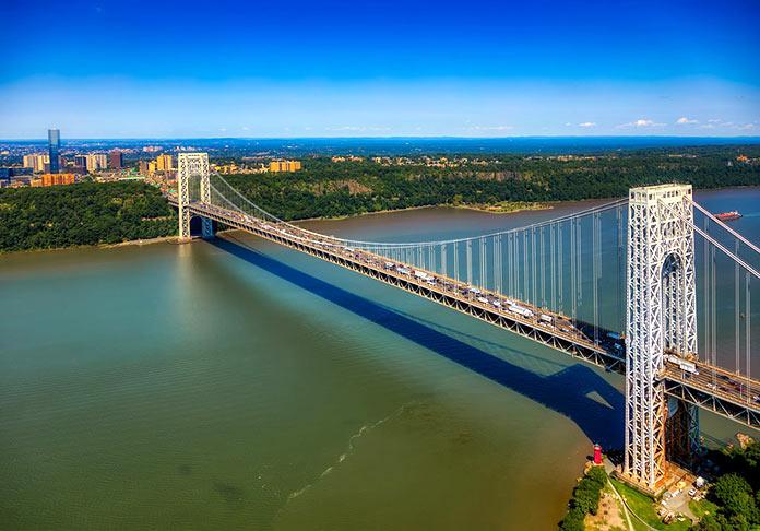 Tipos de puentes: puentes metálicos - Puente George Washington