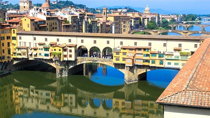 Tipos de puentes: puentes de piedra - Ponte Vecchio