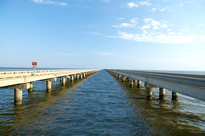 Tipos de puentes: puentes de viga - Lake Pontchartrain Causeway