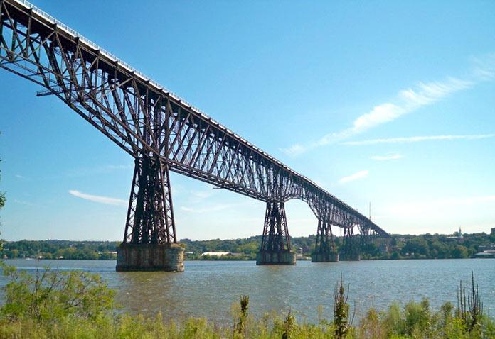 Tipos de puentes: puentes voladizos - Pasarela sobre el Hudson