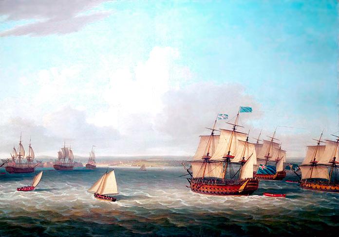 Combates navales. El desastre de La Habana