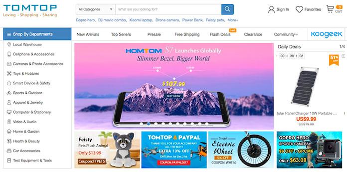 Web de TomTop
