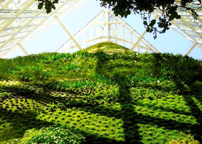 Jardín vertical El Faro verde de la Torre de Cristal