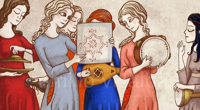Ilustración de las trobadoras