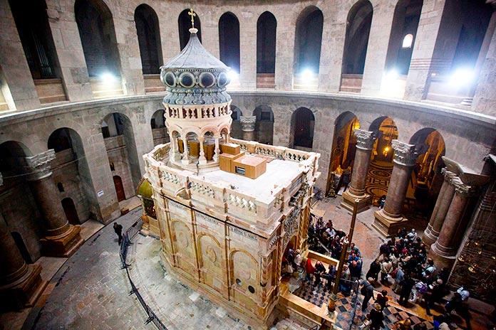 Interior de la Iglesia del Santo Sepulcro