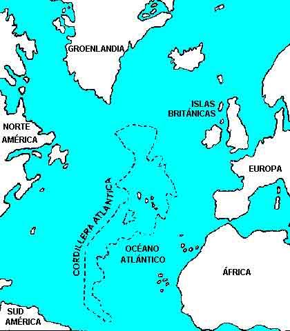 Supuesta ubicación de la Atlántida.