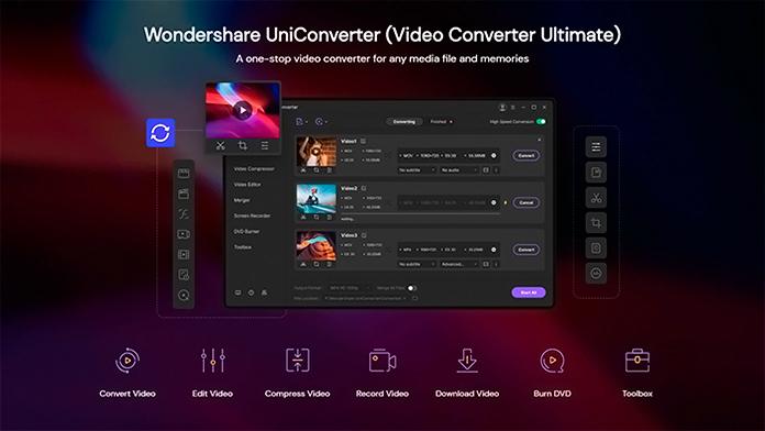 Captura de UniConverter de Wondershare