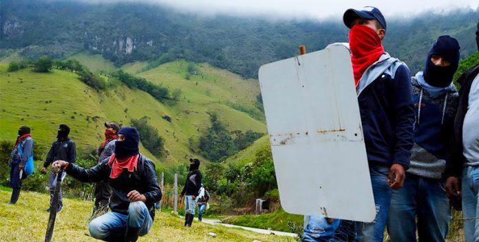 La batalla de indígenas colombianos en el Valle del Cauca.