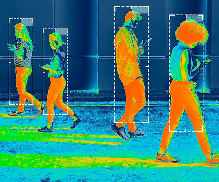 Imagen de un dispositivo de visión térmica
