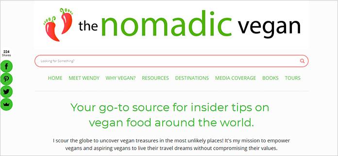 Web The Nomadic Vegan