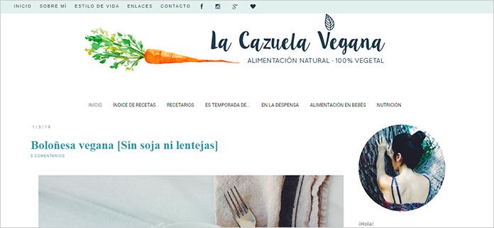 Web La Cazuela Vegana