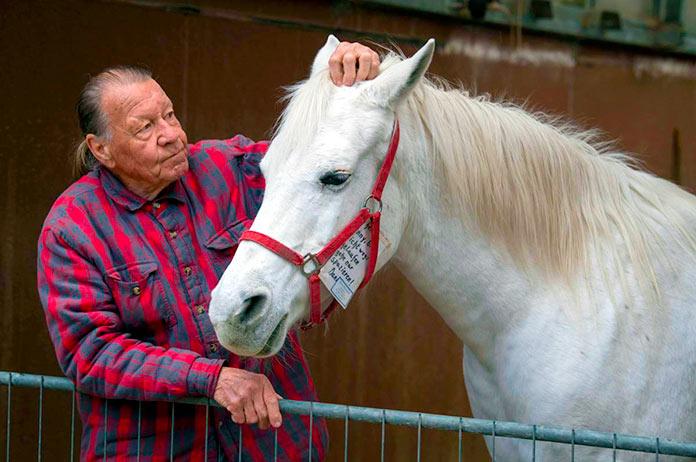 Jenny con su dueño Werner