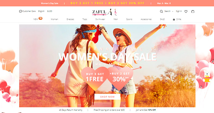 Web de Zaful